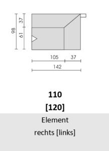Bullfrog Rancho 1023 Element rechts (110) & links (120)