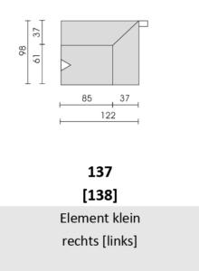 Bullfrog Rancho 1023 Element klein rechts (137) & links (138)