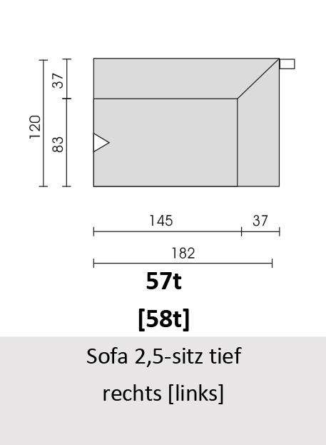 Bullfrog Rancho 1023 Sofa 2,5-Sitz tief rechts (57t) & links (58t)