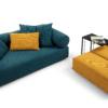 mokumuku Amalfi Sofa mit Element tief und Hocker